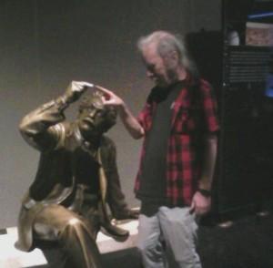 Tim with Einstein, 2011