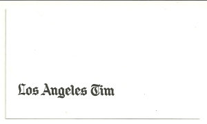 Tim's business card