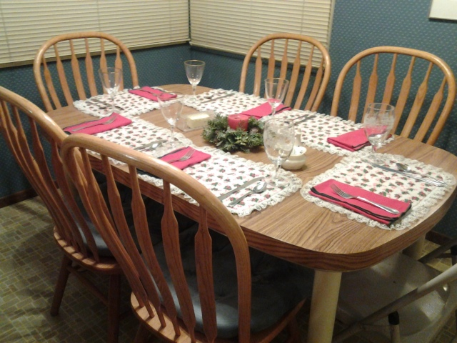 Christmas 2014 kitchen table