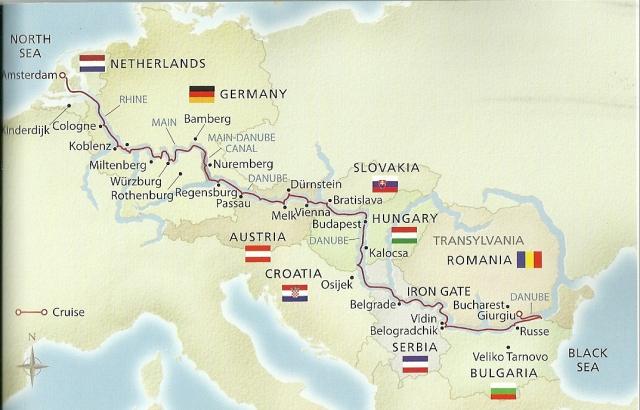 European Sojourn - map