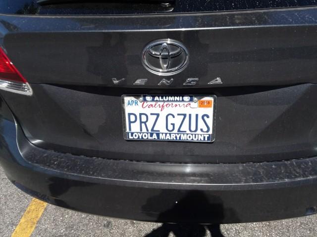 License plate PRZ GZUS